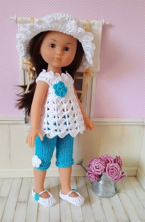 Wendy a crochet and knit pattern for 32-33cm Doll
