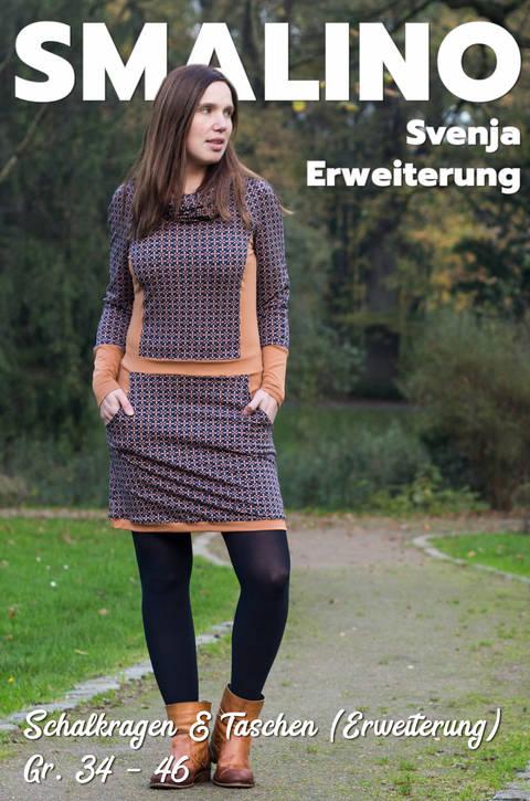 Erweiterung für Damenkleid Svenja - Gr. 34 bis 46 (Schalkragen & Taschen)