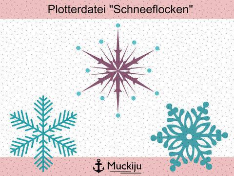 "Plotterdatei ""Schneeflocken"""