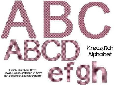 Stickdatei - Kreuzstich Alphabet
