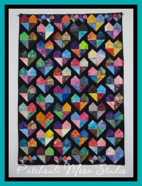 Batik Hearts Quilt at Makerist