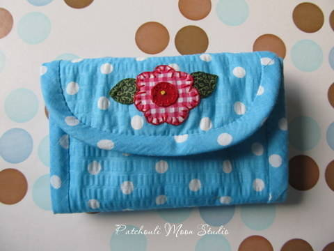 Folding Needle Book with Pincushion