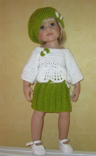 Alessandra a crochet pattern for 50cm Doll at Makerist - Image 1