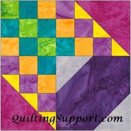Checkered Past 10 Inch Paper Piece Foundation Quilting Pattern at Makerist - Image 1