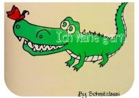 Plotterdatei Krokodil bei Makerist