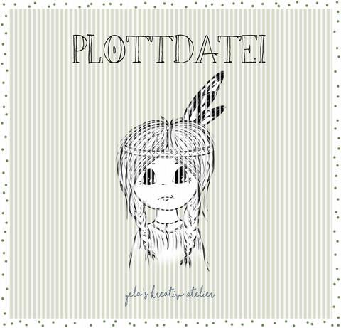 """Plotterdatei  Yela`s Kreativ Atelier """" kleine Feder """""""