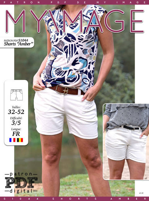 Shorts AMBER Patron de Couture + Tutoriel chez Makerist