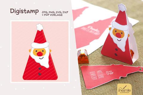 """Nikolaus """"Santa Surprise"""" (Digistamp, Plotterdatei und Druckvorlage)"""