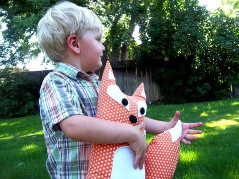 Pillow Fox Stuffed Animal Sewing Pattern
