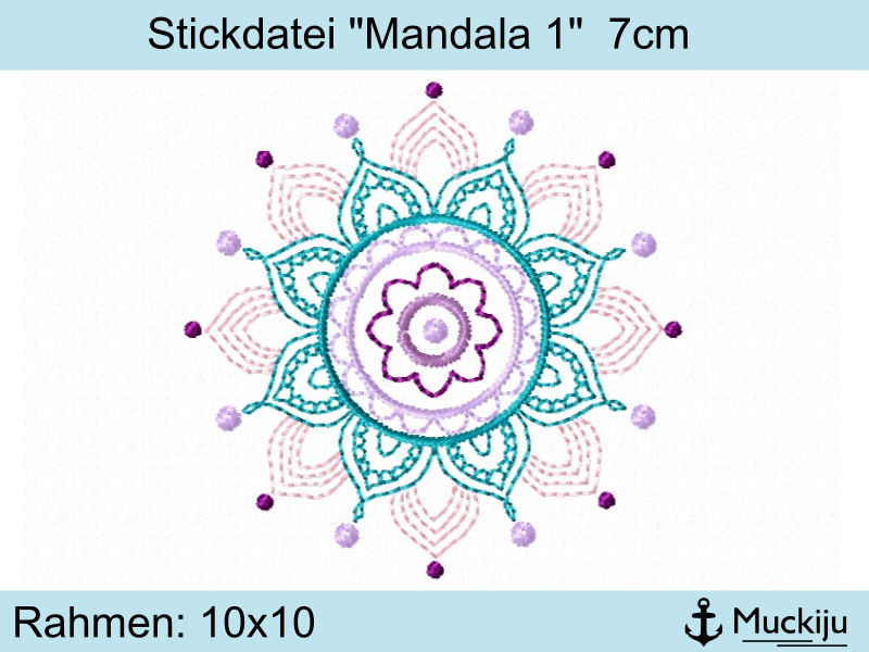 "Stickdatei ""Mandala 1"" 7cm"