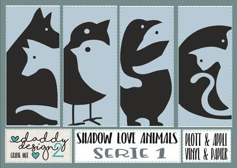 SHADOW LOVE APPLI  Serie 1 Hund-Wolf  Vögel Pinguine Katzen
