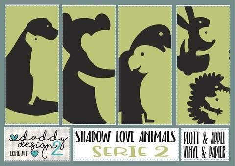 SHADOW LOVE APPLI 2 Igel Teddys Hunde 2 Papageien Hasen