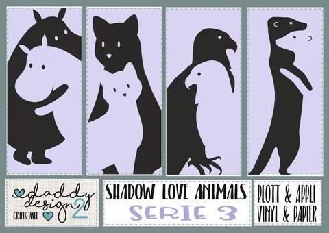 Shädow Love APPLI 3 Hippos Katzen 2  Adler Dino Erdmännchen