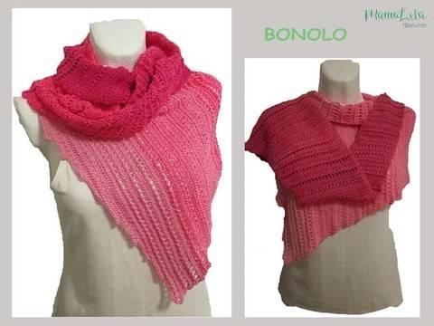 BONOLO asymmetrisches Tuch, Schal ML01 - Häkelanleitung