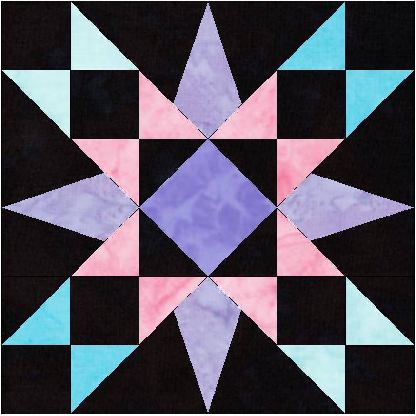 HC Explosive 15 Inch Quilting Block Template Pattern