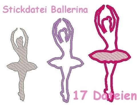 Stickdatei Ballerina Tänzerin