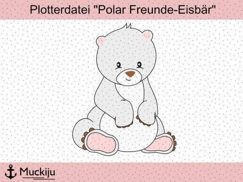 """Plotterdatei """"Eisbär - Polar Freunde"""""""