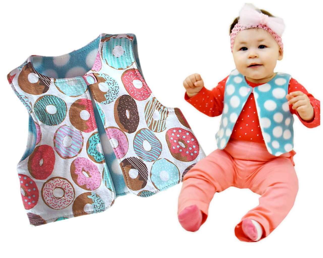 Classic Vest  Sewing Pattern - Age 6 Months - 12 Years