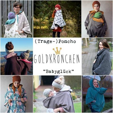 (Trage-) Poncho Babyglück Ebook Gr.32/34 - 54/56