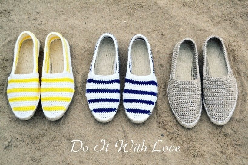 ❤ Espadrilles Nautical Häkelanleitung E-Book ❤ bei Makerist - Bild 1