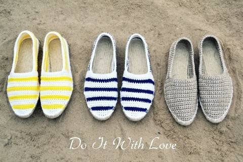 ❤ Espadrilles Nautical Häkelanleitung E-Book ❤ bei Makerist