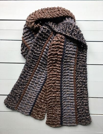 Easy Crochet Scarf Pattern for Man (Mr. Man's Easy Scarf) at Makerist - Image 1