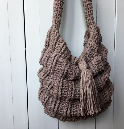 Crochet Boho Bag Pattern (Jacob's Slouchy Sac) at Makerist - Image 1