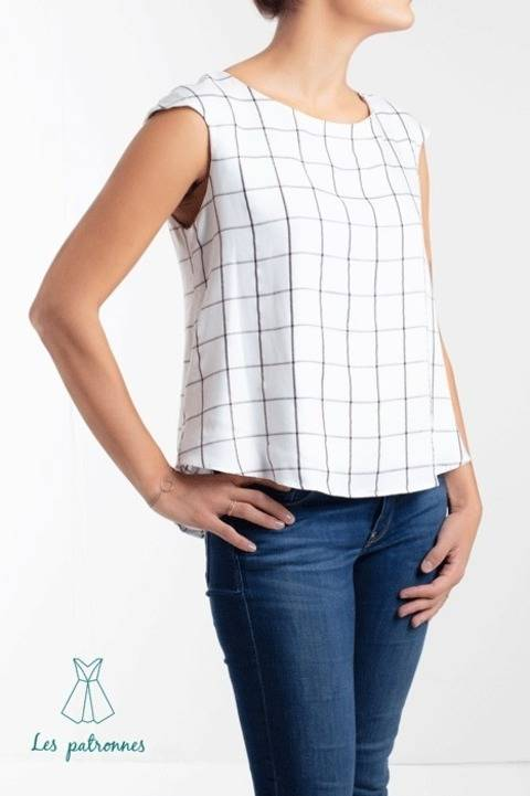 Matisse top Pattern - Women easy to sew top with no dart  -Beginner  at Makerist