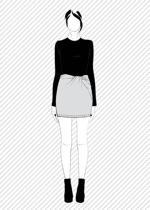 TONARE the twisted skirt - PDF sewing pattern