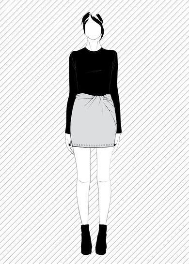 TONARE jupe torsadée - Patron de couture PDF chez Makerist - Image 1