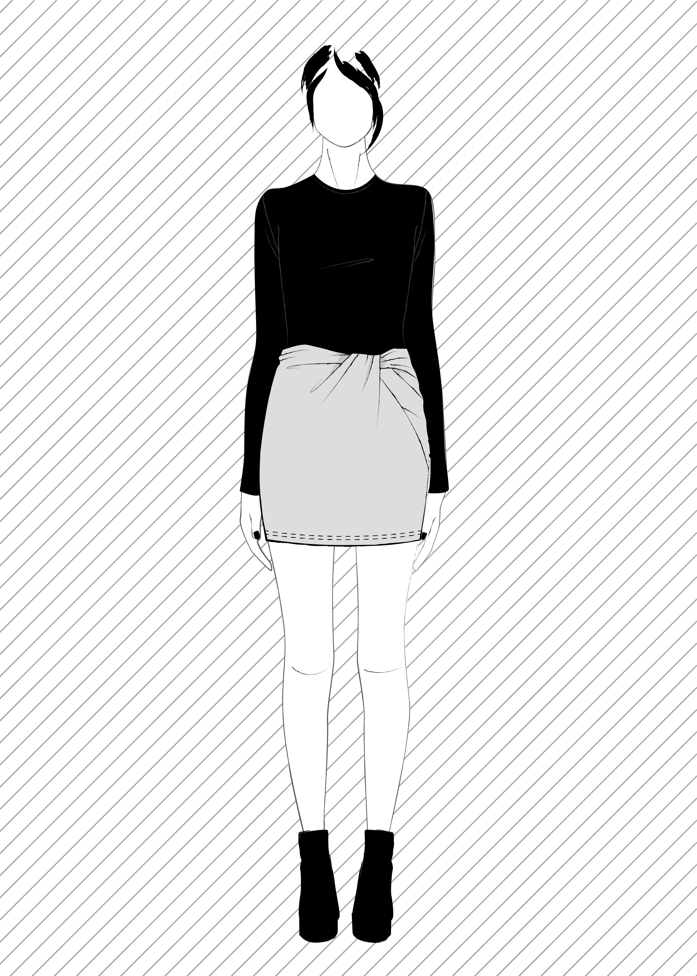 TONARE jupe torsadée - Patron de couture PDF