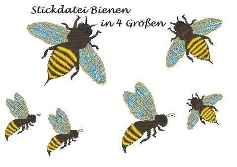 Stickdatei Biene bee bei Makerist