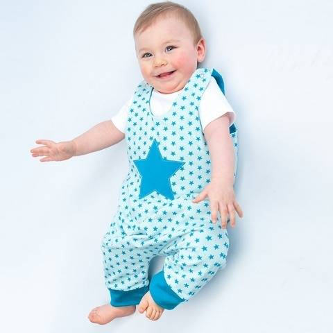 ALBERTO Baby jumpsuit pattern, overall, lined, reversible