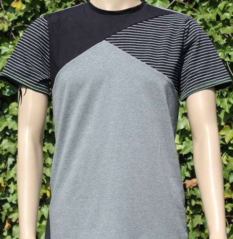 ✂ Schnittmuster Benedikt ✂ T-Shirt für Männer mit asymetrischer Teilung