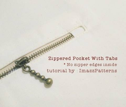 FREE Zippered Pocket for Bags Tutorial at Makerist