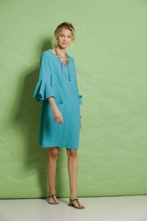 Türkisfarbenes Kleid aus Musselin bei Makerist