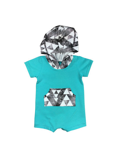 Baby summer romper, hooded kids romper at Makerist - Image 1