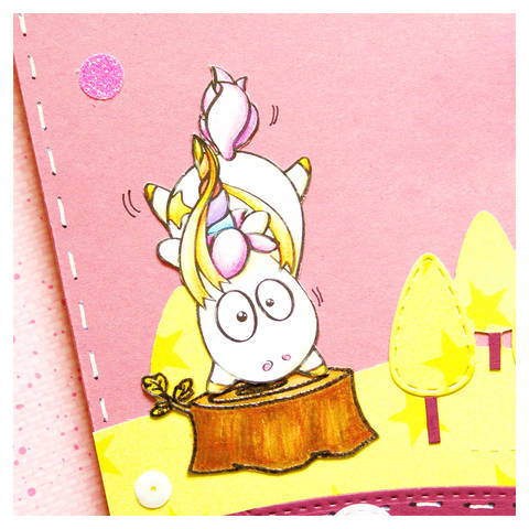 "digi stamp ""handstand unicorn"" bei Makerist"