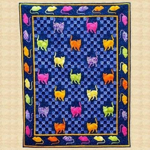 Mouse Hunt Crib Quilt Pattern