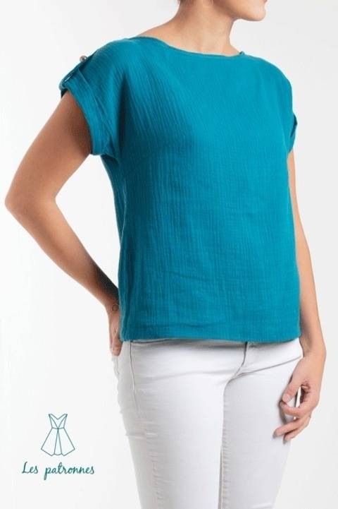 Judd top Pattern - Women easy to sew top -Beginner at Makerist