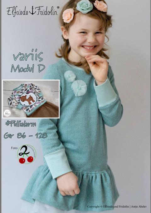 variis Modul D Gr. 86-128, Pulli/Shirt mit optionalem Schößchen