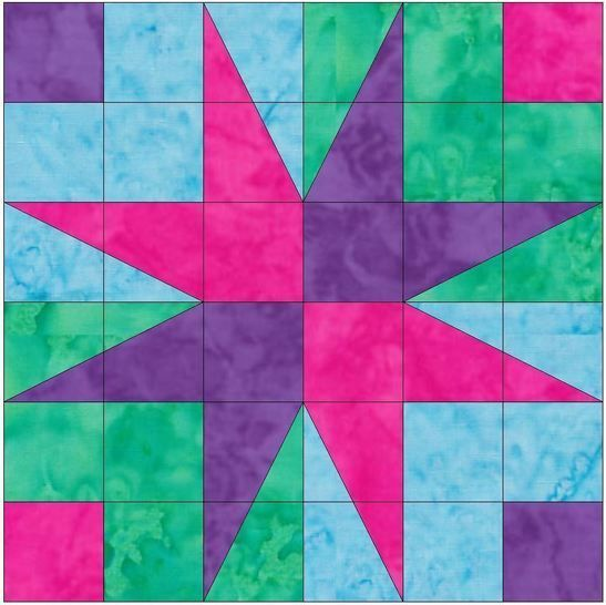 birds of Paradise 10 Inch Foundation Pattern Paper Piece Quilting at Makerist - Image 1