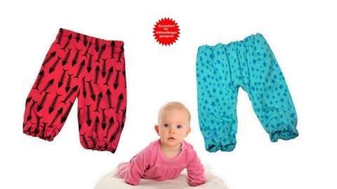 Babyhose, Pumphose Baby, Baby-Hose - Schnittmuster & Nähanleitung