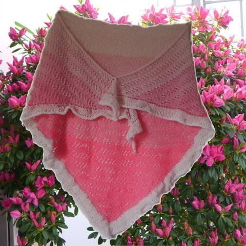Lacedreieckstuch Sakura Strickanleitung bei Makerist
