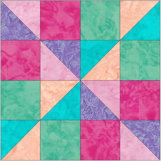 Scrappy Fun 10 Inch Paper Piece Foundation Quilting Block Pattern PDF at Makerist - Image 1