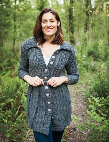 Belted Coat - hand knitting pattern at Makerist - Image 1