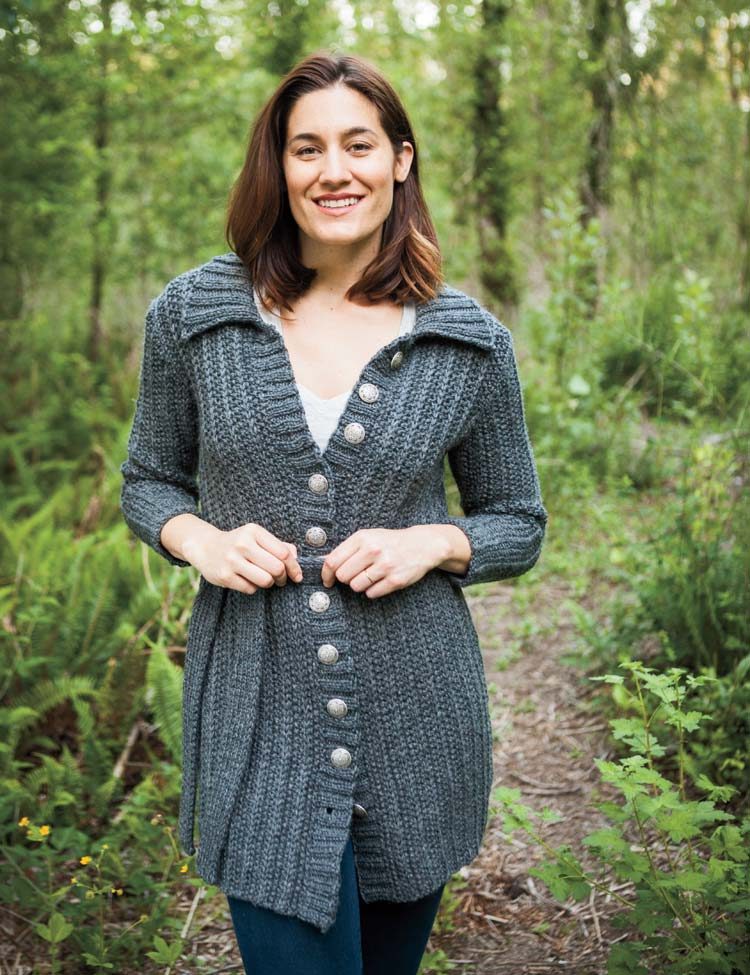 Belted Coat - hand knitting pattern