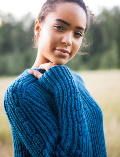 Fisherman's Rib Pullover - hand knitting pattern at Makerist - Image 1