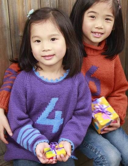 Four! Five! Six! childrens raglan pullover - hand knitting pattern at Makerist - Image 1