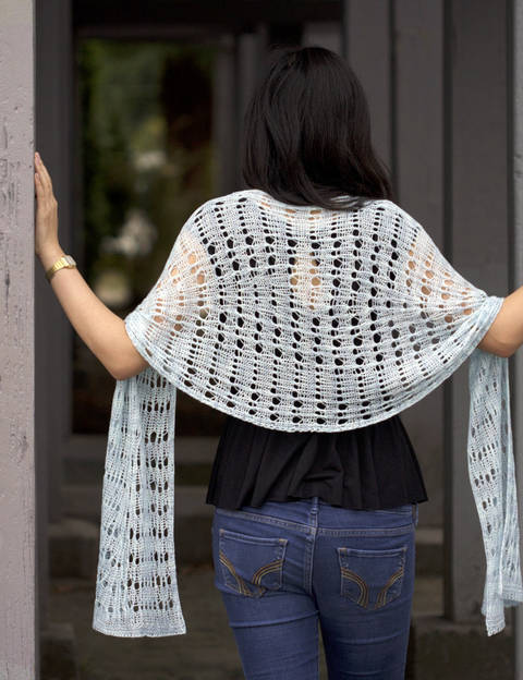 Ee Ling shawl - hand knitting pattern